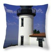 Admiralty Head Lighthouse Li2024b Throw Pillow