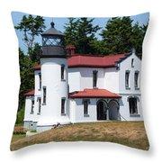 Admiralty Head Lighthouse Throw Pillow