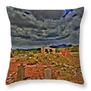 Adobe Church Throw Pillow
