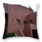Adobe House At Red Rocks Colorado Throw Pillow