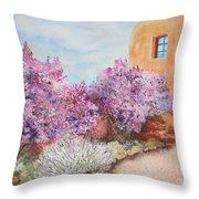 Adobe Lilacs Throw Pillow