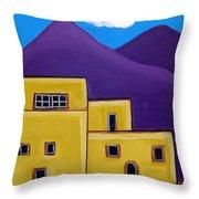 Adobe Village Throw Pillow