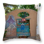 Adobe Wall Chimayo  Throw Pillow