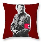 Adolf Hitler Crossed Hands Circa 1934-2015 Throw Pillow