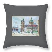 Adolf Hitler Painting Ordensplatzcu Throw Pillow