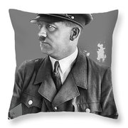 Adolf Hitler Portrait Heinrich Hoffmann Photo Circa 1935-2016 Throw Pillow