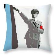 Adolf Hitler Saluting Full Figure Circa 1933-2016 Throw Pillow