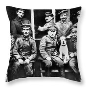 Adolf Hitler With  Fellow Soldiers From The List Regiment  Number Two Circa 1916 Throw Pillow