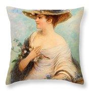Adolphe Philippe Millot Throw Pillow
