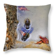 Adopted Amphibian Throw Pillow