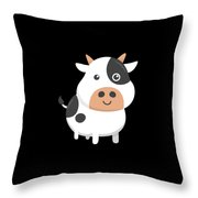 Adorable Cow Cute Baby Calf Throw Pillow