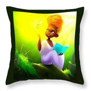 Adorable Princess Throw Pillow