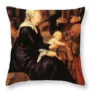 Adoration Fragment Throw Pillow