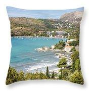 Adriatic Coast In Croatia Throw Pillow