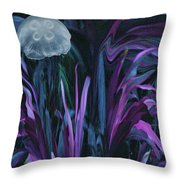 Adrift In The Mermaid Cafe Throw Pillow