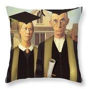 Adult Graduates Throw Pillow