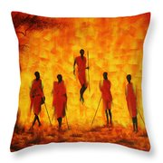 Adumu Throw Pillow