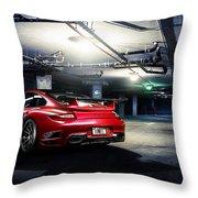 Adv1 Red Porsche 2 Throw Pillow