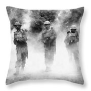 Advance By John Springfield Throw Pillow