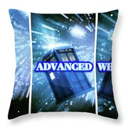 Advanced Whovians Alt Throw Pillow