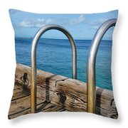 Adventure Into The Blue Throw Pillow