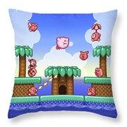 Adventure Kirby Throw Pillow