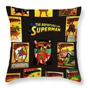 Adventures Of Superman Throw Pillow