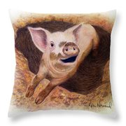 Adventurous Throw Pillow by Phyllis Howard