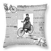 Advertisement, 1891 Throw Pillow