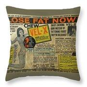 Advertisement Throw Pillow