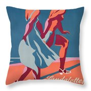 Advertisement For Bally Sandals Throw Pillow by Druck Gebr