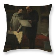 Advice To A Young Artist Throw Pillow