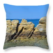 Aegean Rocks Throw Pillow