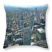 Aerial Abstract Toronto Throw Pillow