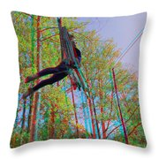 Aerial Artist - Use Red-cyan 3d Glasses Throw Pillow