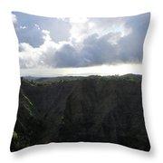 Aerial Canyon View Of Kauai Throw Pillow