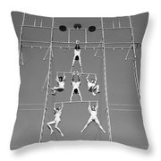 Aerial Circus Act, C.1940s Throw Pillow