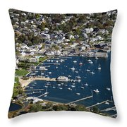 Aerial Edgartown Throw Pillow