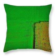 Aerial Farm Mchenry Il  Throw Pillow