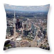 Aerial Of Downtown Toronto Ontario Throw Pillow