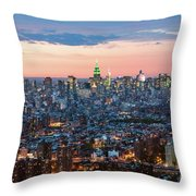 Aerial Of Midtown Manhattan With Empire State Building, New York Throw Pillow