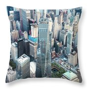 Aerial Of One World Trade Center, New York, Usa Throw Pillow