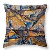 Aerial Rock Abstract Throw Pillow