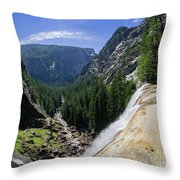 Aerial View From The Top Of The Upper Yosemite Fall Throw Pillow