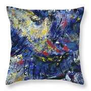 Aerial View/night City Throw Pillow