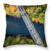 Aerial View Of A Bridge Throw Pillow