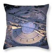 Aerial View Of Ancient Roman Theater Throw Pillow