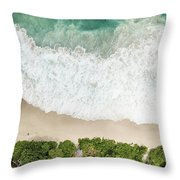 Aerial View Of Anse Intendance - Mahe - Seychelles Throw Pillow