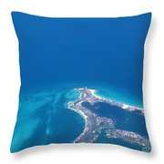 Aerial View Of Cancun Throw Pillow