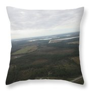 Aerial View Of Fort Myers. Throw Pillow